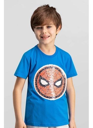 Spider-Man Spider Man Lisanslı Mavi Erkek Çocuk T-Shirt Mavi
